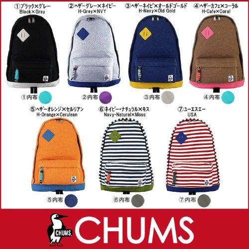 CHUMS(チャムス) リュックchums classic day pack sweat nylonクラシック デイ パック スウェット×コーデュラナイロン 2013秋冬 新色 CHUMS(チャムス) リュック 5 ヘザーオレンジ×セルリアン