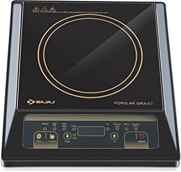 Bajaj Popular Smart 1400-Watt Induction Cooker (Black)