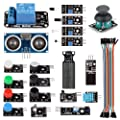 SainSmart 20 Sensor Modules Education Starter Kit with 1 Relay Module + HC-SR04 Distance Sensor + PDF Tutorial Instruction for Arduino UNO MEGA2560 R3 Duemilanove 2013 Robot