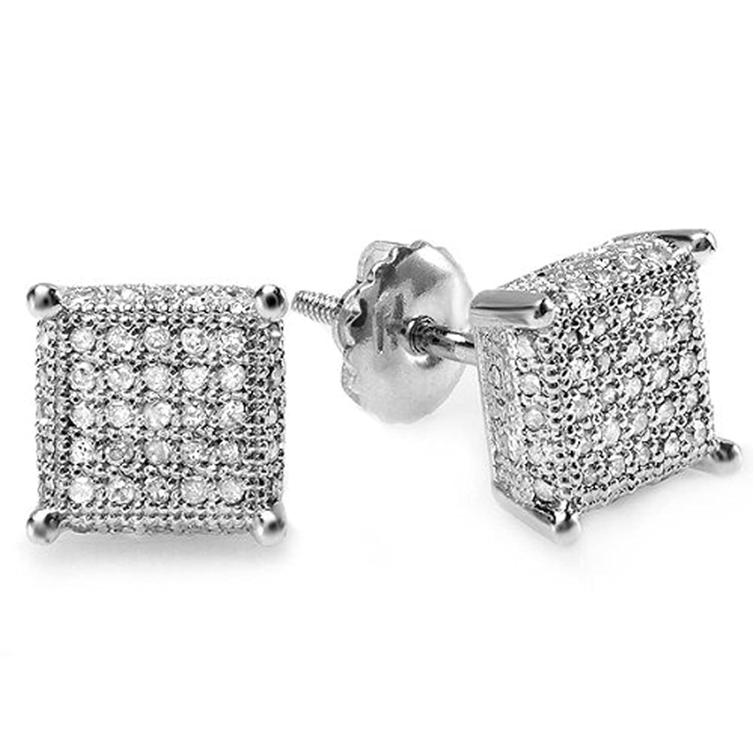 Black And White Diamond Earrings For Men Just Try To Be Better