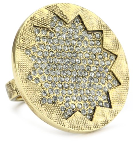 House of Harlow 1960 Medium Sunburst Pave Ring, Size 7
