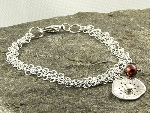 silver-poppy-flower-bracelet-with-red-freshwater-pearl-charm