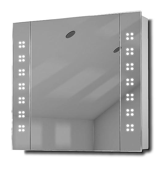 Amaze LED Illuminated Bathroom Mirror Cabinet With Sensor & Shaver k19