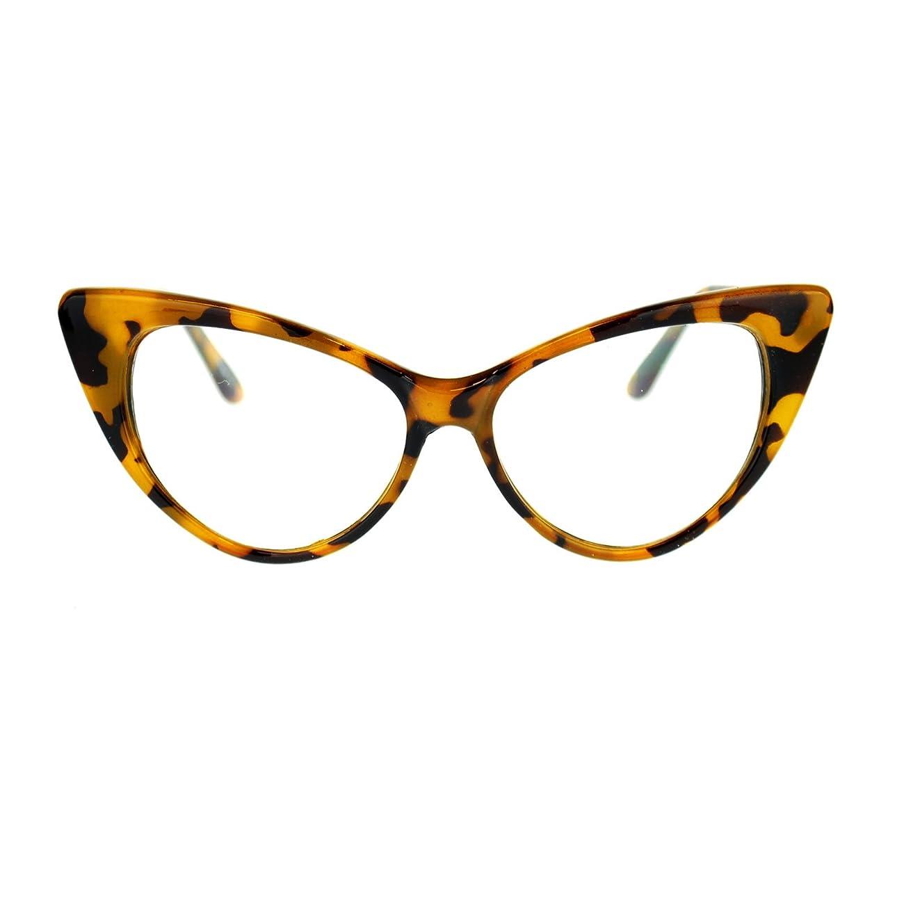 Womens Goth Mod Chic Classic Retro Cat Eye Optical Glasses 0
