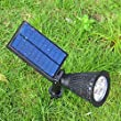 PYRUS Solar Powered LED Landscape Lighting Waterproof Outdoor Lights Bulb Spotlight for Yard Lawn Pathway Garden