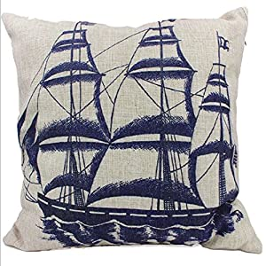 Amazon.com: Ifstar 45*45 cm Various Choose Cotton Linen Square Decorative Throw Pillow Case ...
