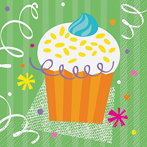 Cupcake Party Beverage Napkins, 16ct - 1