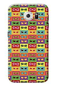 Samsung Galaxy S6 Back Cover Premium Quality Designer Printed 3D Lightweight Slim Matte Finish Hard Case Back Cover for Samsung Galaxy S6 by Tamah