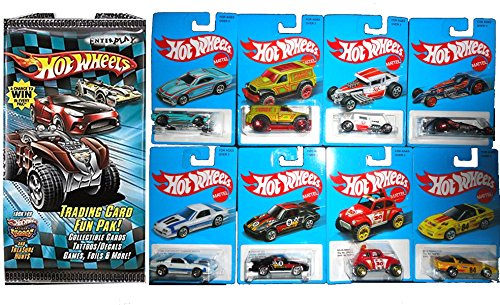Hot Wheels New Car Set Exclusive Series 2 Classic Retro Blue Card 2016 - Heritage Style 8 cars + Pack of Cards Volkswagen, Bone Shaker, Porsche, corvette (Hot Wheels New For 2015 compare prices)