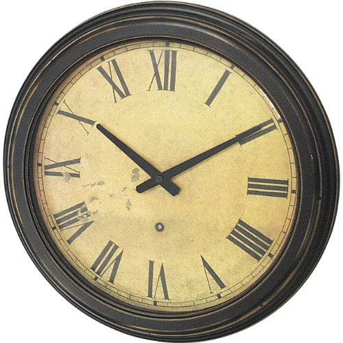 Infinity Instruments The Tattler - Distressed Case Resin Wall Clock