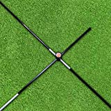The Elixir Golf Alignemnt Sticks (2-pack) with (2) Right-Angled Connectors for Swing Traning and Practice, Fits in Golf Bag