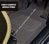 Alfa Romeo Brera (2005 to 2010) Grey Car Mats + Beige Trim