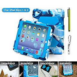 Ipad Case,Ipad Mini 2 Case,Ipad Mini 3 Case,ACEGUARDER? ipad mini case Case for kids Rainproof Shockproof Anti-Dirt Drop Resistance Case(navy-blue)