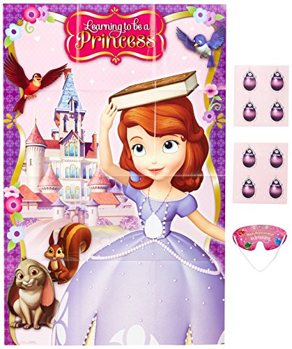 Sofia The First Party Game, Pin ThePendant on The Necklace, Multicolored - 1