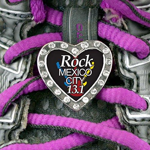 Heart Shaped Shoe Lace Charm Rock Mexico City 13.1 mexico city puebla