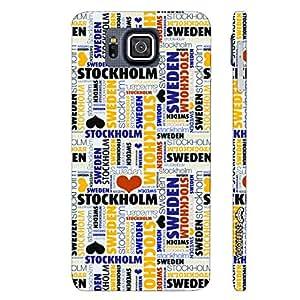 Samsung Alpha G850F Sweden's Capital designer mobile hard shell case by Enthopia