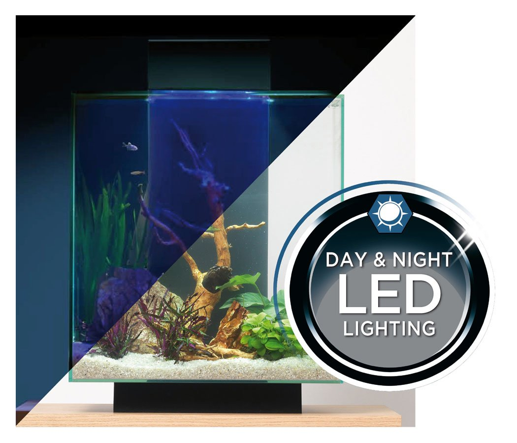 Fish aquarium rates in delhi - Fluval Edge 12 Gallon Aquarium With 42 Led Light Black Amazon In Pet Supplies