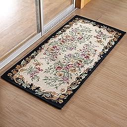 XH@G Floor mat door mat rug floor mat kitchen absorbent mat bathroom rug mat , deep blue , 60*90cm