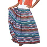 Jessica London Plus Size Printed Knit Maxi Skirt