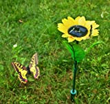SoBuy Pack of 4 Amazing Solar Powered Fluttering Flying Butterfly Flowers + 1 Gift for Child, EGS-SET5