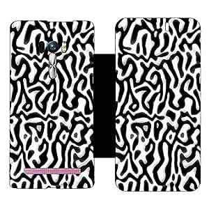 Skintice Designer Flip Cover with hi-res printed Vinyl sticker wrap-around for Asus Zenfone Selfie