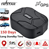 TKSTAR Real Time Vehicle GPS Tracker,150 Day Long Time Standby Waterproof Strong Magnet Car GPS Tracker Tracking Device for SUV Car/BUS/Trucks Fleet Management Support Android and iOS TK905B (Color: 905B)