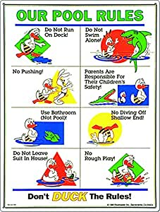 Poolmaster 41339 Our Pool Rules Duck