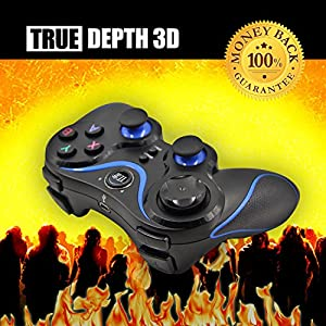 True Depth 3D® BT Motion Wireless Bluetooth Gamepad for Android Smartphones, Cell Phones, Tablets and Devices from True Depth 3D