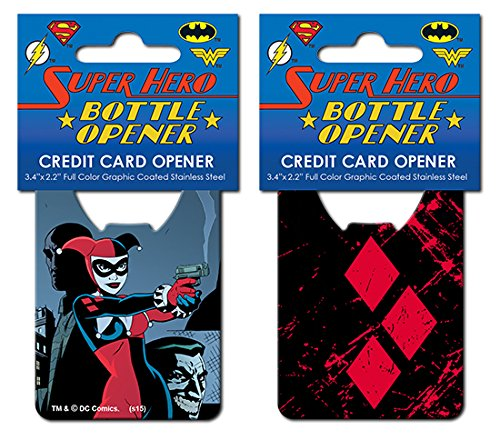 Batman Harley Quinn Iconic Credit Card Bottle Opener (Bottle Opener Batman Keychain compare prices)