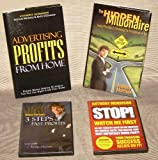 Set of Anthony Morrison Books and DVDs: Advertising Profits from Home, The Hidden Millionaire, # Steps to Fast Profits DVD, Stop Watch Me First! DVD (2008-2009)