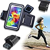 SQdeal New Black Sports Running Gym Armband Arm Band Case Cover For Samsung Galaxy S5 I9600