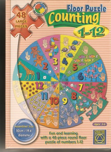 Cheap Fun Learning Advantage – Counting 1-12 Floor Puzzle – 48 Large Pieces (B000HYL7SS)