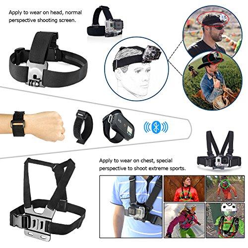 Zookki Esencial Kit de Accesorios para GoPro Hero 4 3 + 3 2 1 Black Silver Accesorio para GoPro 4 3 + 3 2 1 Negro Plata SJ4000 SJ5000 SJ6000, Accesorio de Cámara para GoPro Hero4 Hero3+ Hero3 Hero2
