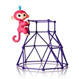 Fingerlings - Jungle Gym Playset + Interactive Baby Monkey Aimee (Coral Pink with Blue Hair) (Color: Jungle Gym + Aimee)