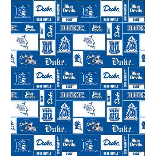 College University of Duke Blue Devils Fleece Fabric Print By the Yard