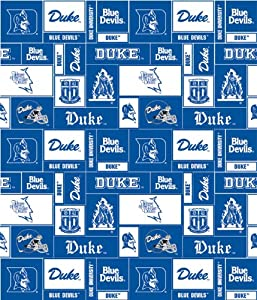 college university of duke blue devils fleece fabric print by the yard. Black Bedroom Furniture Sets. Home Design Ideas