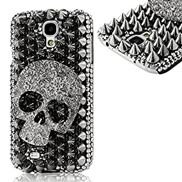 Samsung S4 Case - EVTECH(TM) Fashion Luxury 3D Handmade Bling Crystal Sparkle Glitter Diamond Rhinestone Design PC Protective Skin Case Hard Cover for Samsung Galaxy S4 9500 9505 M919
