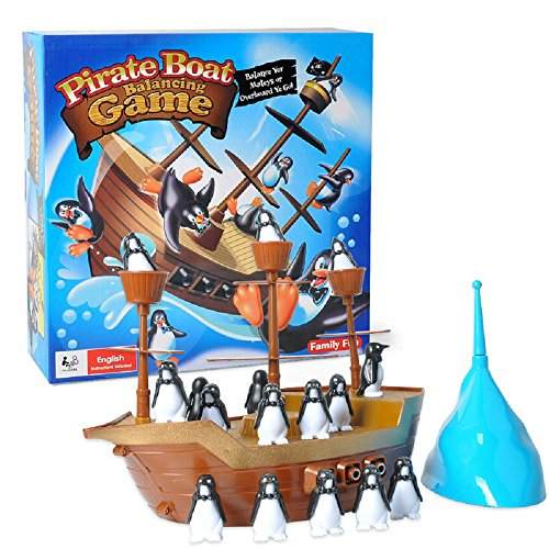 DeeXop Pirate Ship Penguin Balance Game Pirate Boat Game For Family