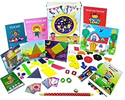 XploraBox Learning Toys-Fun with Shapes and Colours Activity Kit, Ages 2-4