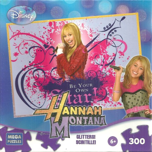 Disney Hannah Montana Be Your Own Star 300 Piece Jigsaw Puzzle Glitters - 1