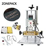 ZONEPACK Upgraded Leather Bronzing Embossing Machine Hot Foil Stamping Machine DIY Gift PVC Press Embossor Change Mould Quickly (Tamaño: ZS-110A Staming Machine)