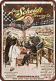 1901 Adam Scheidt Beer Vintage Look Reproduction Metal Sign