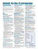 Outlook for Mac 15 Quick Reference Guide (Cheat Sheet of Instructions, Tips & Shortcuts - Laminated Guide)