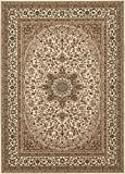 "Traditional Oriental Cream High Quality Medallion Design 5' 3"" X 7' 3"" Area Rug"