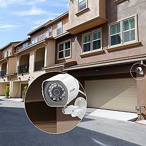 Sistema de Vigilancia Zmodo con 8 canales y 8 cámaras 720p HD Simplified PoE NVR P2P  de alta definición para exterior e interior con disco duro de 1TB y grabación inteligente