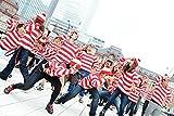 即納【送料無料】赤シマお兄さんキッズ・ジュニア・サイズ追加!ボーダーロンT&メガネ&帽子セットコスプレニットキャップコスチューム眼鏡めがねニット帽ハロウィンウォーリーを探せウォーリーをさがせ仮装衣装子供イベント長袖Tシャツなりきり(S)