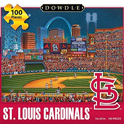 Jigsaw Puzzle - St Louis Cardinals 100 Pc By Dowdle Folk Art