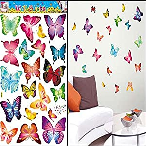 Great Value Wall Decor DIY Colorful Butterfly Art Wallpaper Decor Wall Stickers Decals from Mzamzi