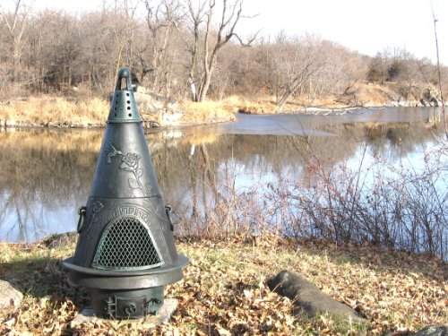 The-Blue-Rooster-Garden-Chiminea-in-Green