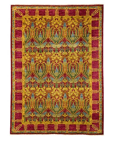 Darya Rugs Arts & Crafts Handmade Rug, Purple, 6' x 9'